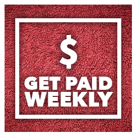 You can get paid weekly as a Service Provider of Crew2. We have a ...
